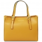 Mobile Preview: Leder-Handtasche Aura gelb