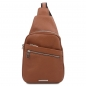 Preview: Unisex Brusttasche Albert cognac
