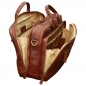 "Preview: Old Angler Leder-Laptoptasche ""Exclusiva"" braun interieur"