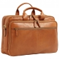 "Preview: Old Angler Leder-Laptoptasche ""Exclusiva"" colonial"