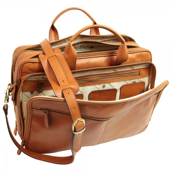 "Old Angler Leder-Laptoptasche ""Exclusiva"" colonial interieur"
