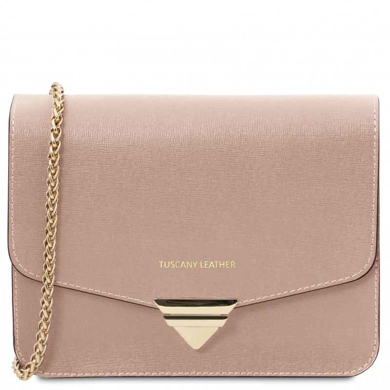 Tuscany Leather Clutch Nude