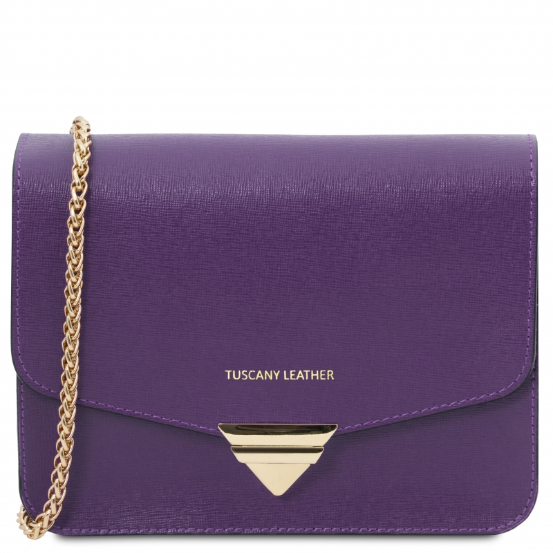 Tuscany Leather Clutch purple