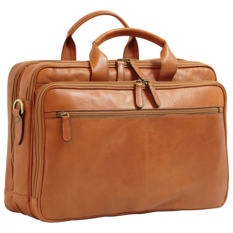 "Old Angler Leder-Laptoptasche ""Exclusiva"" colonial"