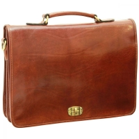 Old Angler Messenger-Aktentasche Leder