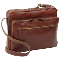 Old Angler Leder-Laptoptasche